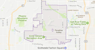 paradise valley appraisal service area