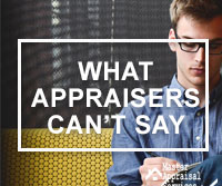 appraisers can't discuss the appraisal with homeowners